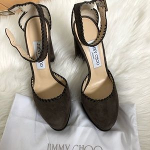 [Jimmy Choo] Daphne Suede Platform Sandals